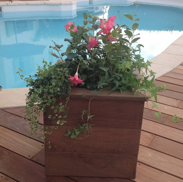 jardiniere ipe carree top bois direct. Black Bedroom Furniture Sets. Home Design Ideas