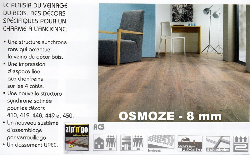 parquet flottant osmoze 8mm top bois direct. Black Bedroom Furniture Sets. Home Design Ideas