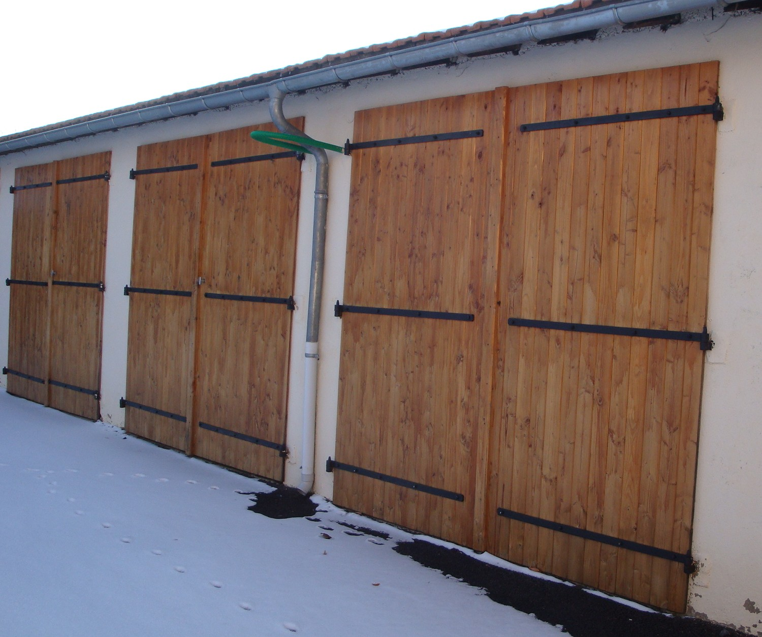 Lames volets en douglas top bois direct for Garage en bois autoclave