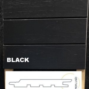 profil bardage accoya noir