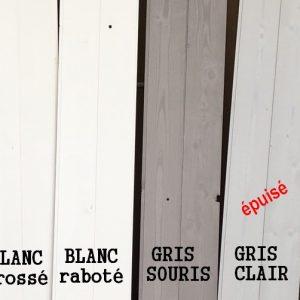 lambris gris et blanc BC